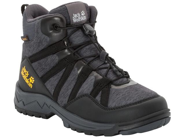 reputable site 77a37 2d8ba Jack Wolfskin Thunderbolt Texapore Mid-Cut Schuhe Kinder black/dark grey